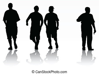 silhouettes, hommes
