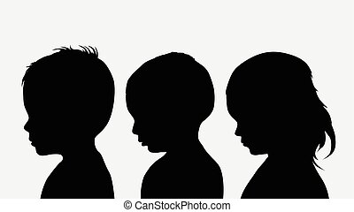 silhouettes, kinderen