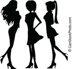 silhouettes ladies