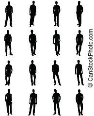 silhouettes, man
