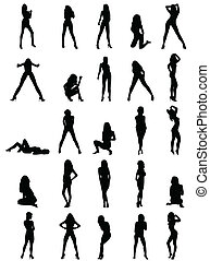 silhouettes, meiden