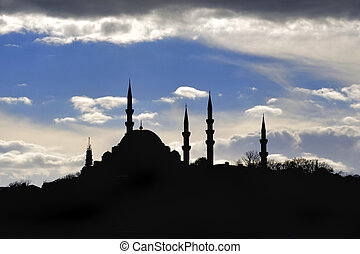 Silhouettes Mosque