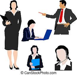 silhouettes, o, business národ