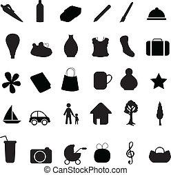 silhouettes, objet