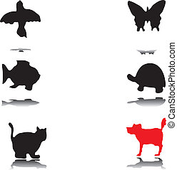 Silhouettes of animals