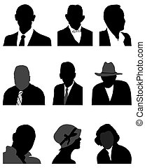 silhouettes of avatars