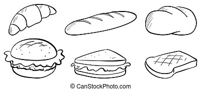 Silhouettes of bread