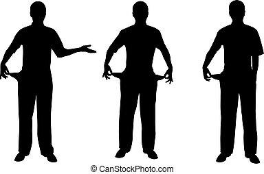 broke people - silhouettes of broke people