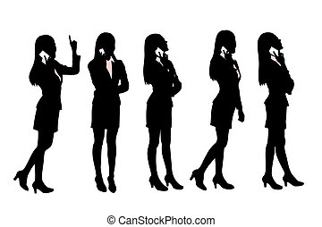 Silhouettes of Business women