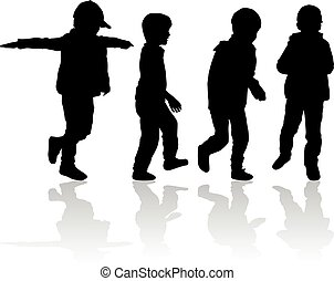 Silhouettes of children.