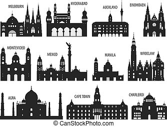 Silhouettes of cities