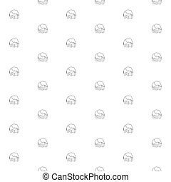 Silhouettes of elephant vector seamless pattern