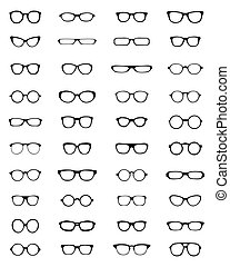 Silhouettes of eyeglasses