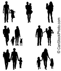 families at walking