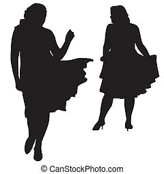 Silhouettes of fat women - Silhouettes of fashion XXL women