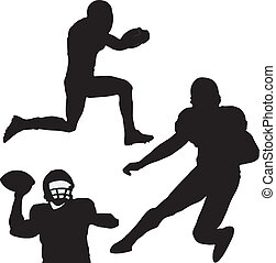 silhouettes of football player