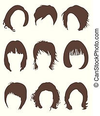 Silhouettes of hair styling