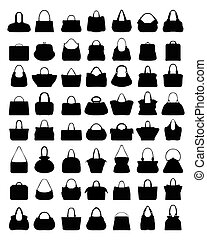 silhouettes of handbags