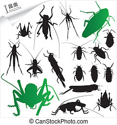 Silhouettes of insects