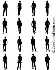 Silhouettes of man