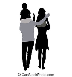 silhouettes of mom and dad with chi
