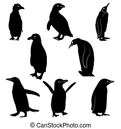 Silhouettes of Penguins