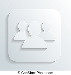 silhouettes of people icon vector