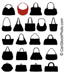 Silhouettes of purses