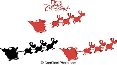 Silhouettes Of Santa Claus