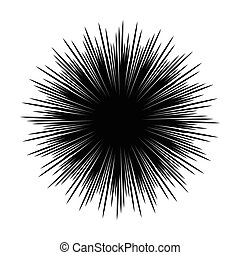 Silhouettes of sea urchin animals isolated black and white vector illustration minimal style