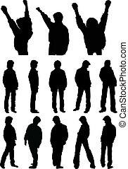 silhouettes of teenagers