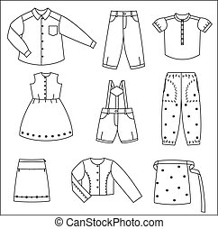 Silhouettes of the clothes