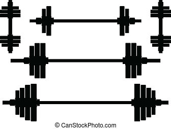 silhouettes of weights. second variant