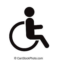 silhouettes people handicap