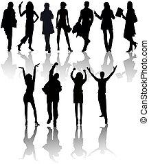 silhouettes, peuples