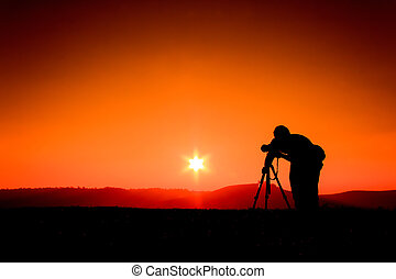 Silhouettes photographers