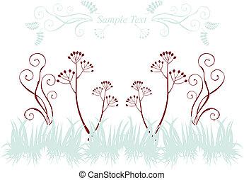silhouettes, planten