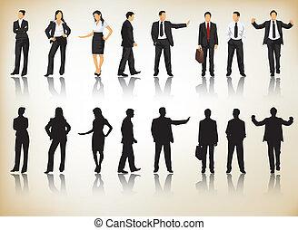 silhouettes, povolání