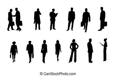 silhouettes, professionnels
