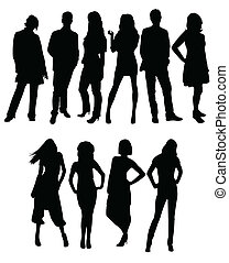 silhouettes, professionnels