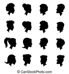 silhouettes, profils