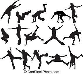 silhouettes, sauter