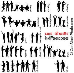 silhouettes, set