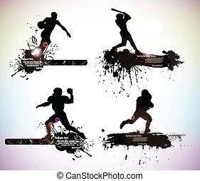 silhouettes, sportende