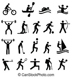 silhouettes, sports
