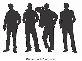 Silhouettes - A vector illustration of male silhouettes