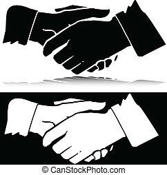 silhouettes, vecteur, maniement