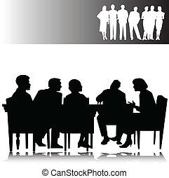 silhouettes, vecteur, professionnels