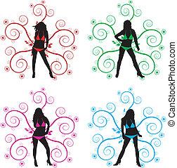 silhouettes - vector illustration