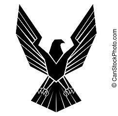 silhoutte, águila, símbolo, negro